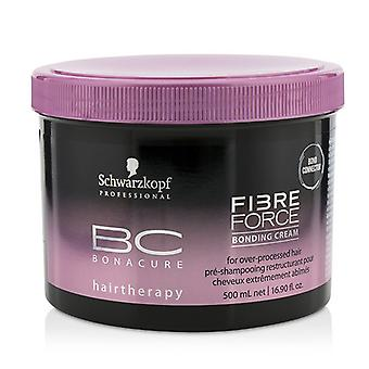 Schwarzkopf BC Bonacure Fibre Force Bonding Cream - For Over-Processed Hair (Exp. Date: 11/2019) 500ml/16.9oz