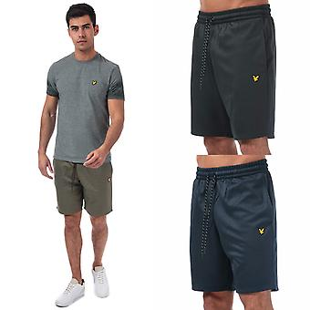 Mens Lyle And Scott Randall Fleece Shorts in Navy/Black/Green