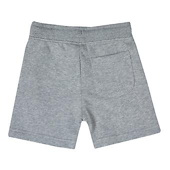Junior Boys Franklin en Marshall fleece logo JOG Short in grijs Heather-geribbeld