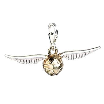 Harry Potter Sterling Silver Golden Snitch Clip on Charm