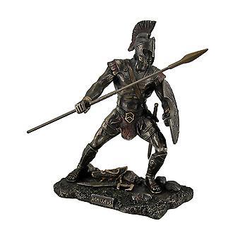 Achilles Trojan War Greek Hero Statue w/Shield and Spear