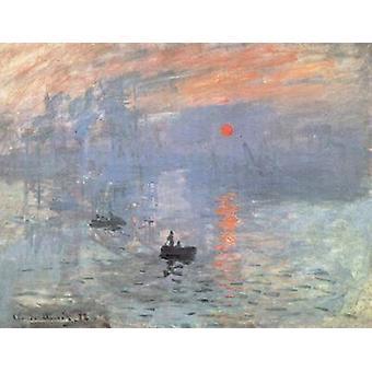 Impression-Sunrise, Claude Monet, 49.5 x 64.8 cm