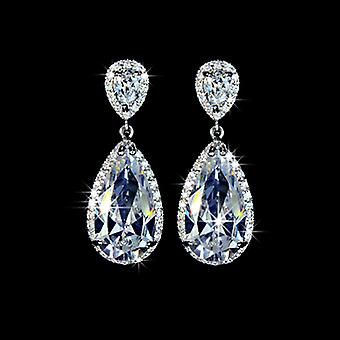 Bridal Collection - Swiss Cubic Zirconia Water Drop Earrings