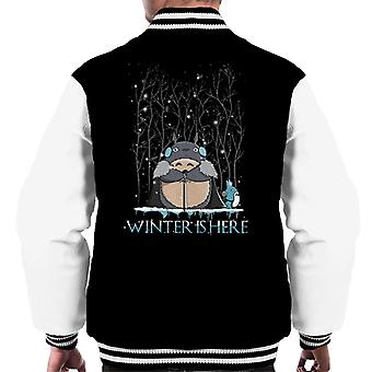 Winter Is Here My Neighbor Totoro Game Of Thrones Men's Varsity Jacket