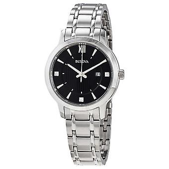Bulova Women's Stainless Steel Crystal Set Dress 96P185 Watch