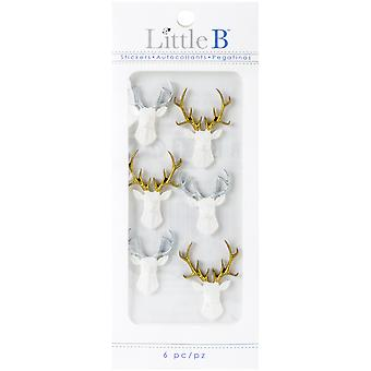 Kleine B Mini Stickers-wit Stags LBMINI-708