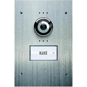 Video door intercom Corded Outdoor panel m-e modern-electronics VDV 910 Detached Stainless steel
