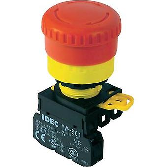 Idec 22 mm YW Emergency off switch YW1L-V4E01Q4R illuminated Recess diameter 22 mm
