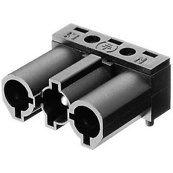 Mains connector ATT.LOV.SERIES_POWERCONNECTORS AC Plug, right angle Total number of pins: 2 + PE 16 A Black Adels-Conta