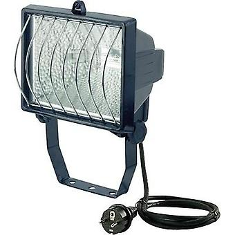 Outdoor floodlight HV halogen 500 W R7s Brennenstuhl HALOGENSTRAHLER 500W SCHWARZ M. 5M KABEL Black