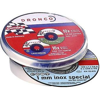DRONCO 6900935-100 10 x corte discos INOX AS60T
