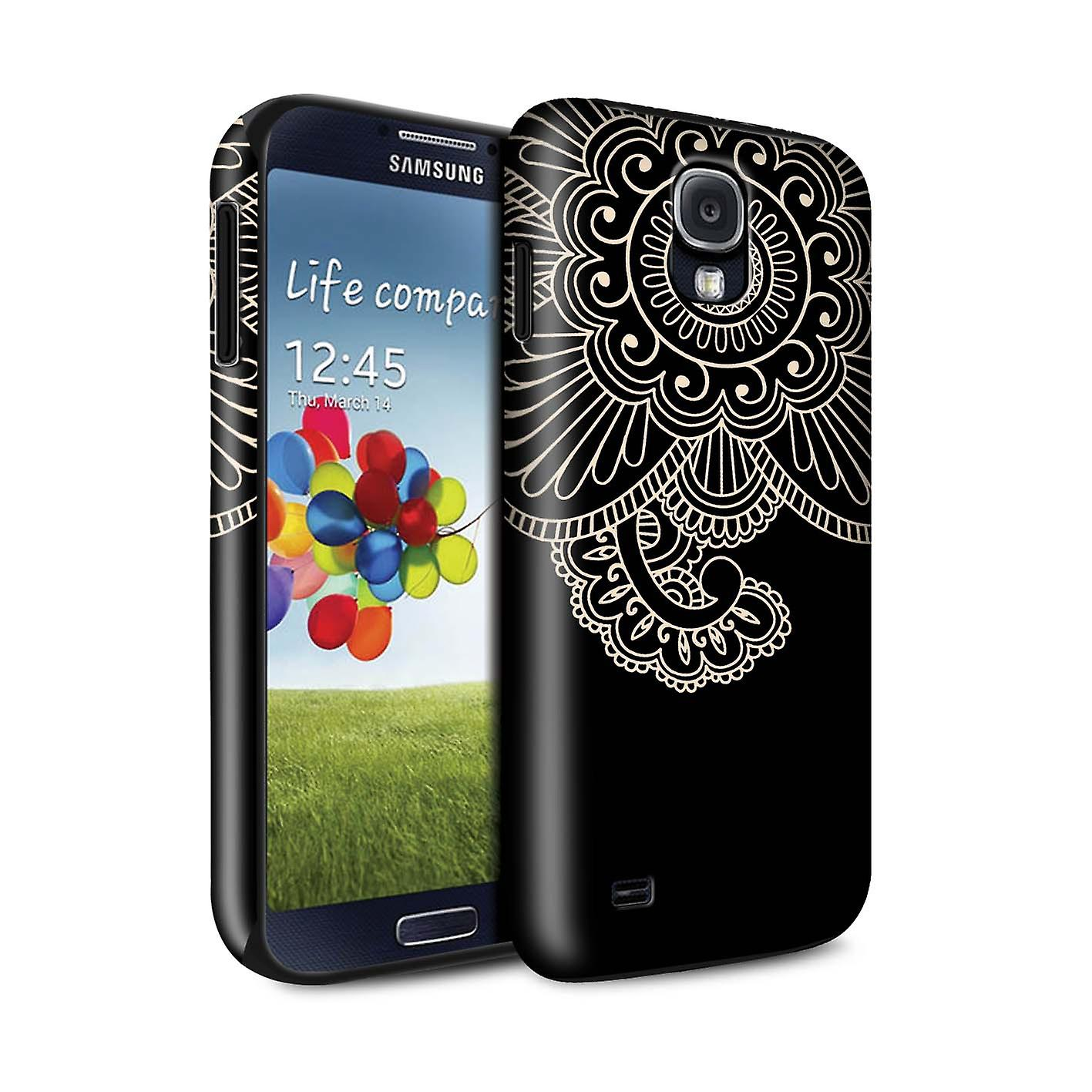 stuff4 gloss tough shock proof phone case for samsung galaxy s4 siv flower henna tattoo fruugo. Black Bedroom Furniture Sets. Home Design Ideas
