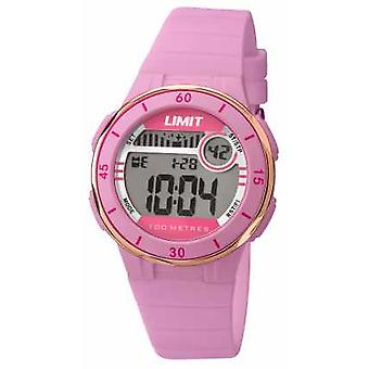 Limit Womans Pink Strap Digital Dial 5557 Watch