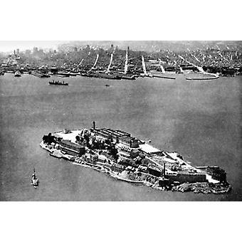 Остров Алькатрас Сан-Франциско CA плакат печати Vintage Сан-Франциско