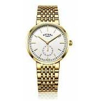 Rotary Mens Canterbury Gold Tone Stainless Steel White Dial GB05062/02 Watch