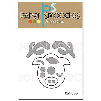 Paper Smooches Die-Reindeer NOD354
