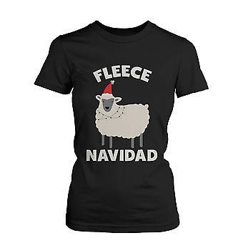 Fleece Navidad Weihnachten Graphic T-Shirt - schwarz Urlaub Baumwoll T-Shirt