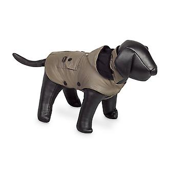 Nobby Mellow Dog Coat Taupe With Hood 44cm