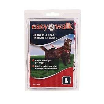 Petsafe Easy Walk Cat Harness And Lead Red Large