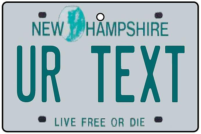Personalised New Hampshire Numberplate Car Air Freshener