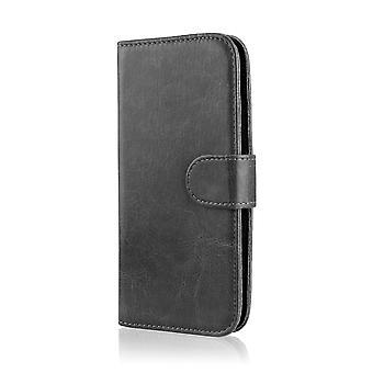 Book wallet + stylus for LG K7 (LG Tribute 5) - Black