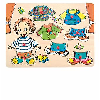 Holzig-Dress up Puzzle junge 90320