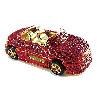 Cabriolet sportsvogn Jeweled tin nipsting boks
