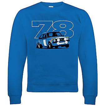 Vectorbomb, Escort Mk2 RS 1800, Mens Rally Car Sweatshirt