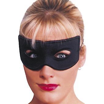 Bandit øye maske, svart