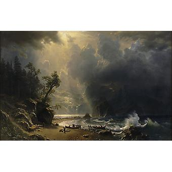 Albert Bierstadt - Puged sound of the Pacific coast Poster Print Giclee
