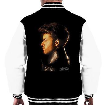 George Michael Side Profile 1986 Men's Varsity Jacket