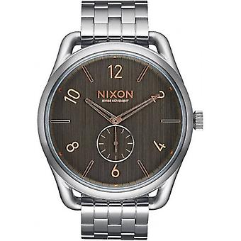 Nixon The C45 SS Watch - Grey/Rose Gold