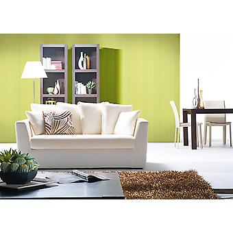 Uni wallpaper EDEM 598-25 dull yellow green sulphur yellow 5.33 m2 structured embossed wallpaper with stripes