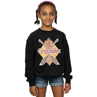 Harry Potter Girls Gryffindor Lozenge Sweatshirt
