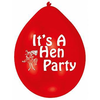 Amscan multicolore Hen Party palloncini (confezione da 10)