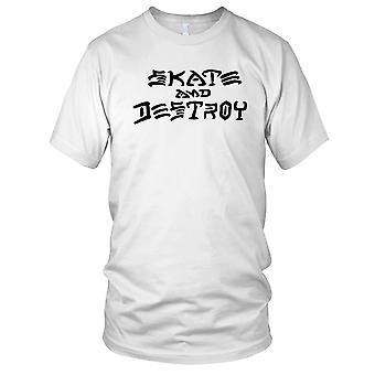 Skate And Destroy - B&W Skateboarder Skateboard Mens T Shirt