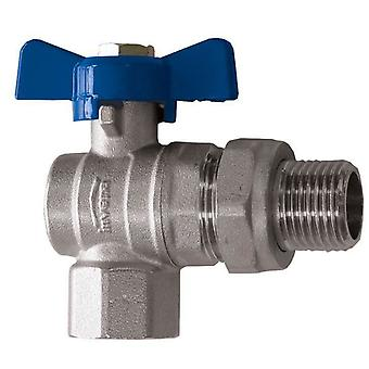 Water Flow Rate Angled Ball Valve Butterfly Handle Female x Male 1/2