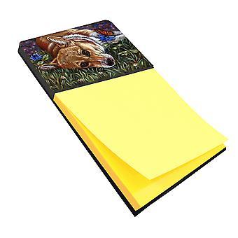 Carolines tesoros 7325SN Corgi mariposa Pastel Nota adhesiva soporte