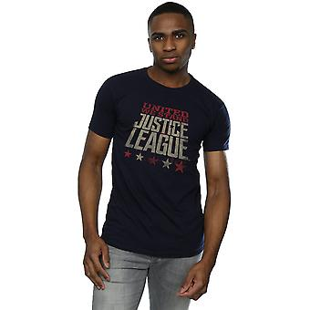 Justice League film DC Comics maschile United We Stand t-shirt