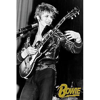 デヴィッド ・ ボウイ - ギター ポスター ポスター印刷