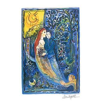 Wedding Poster Print by Marc Chagall (18 x 24)