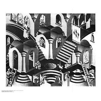 Concave and Convex Poster Print by MC Escher (26 x 22)