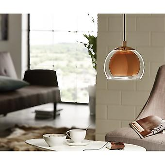 Eglo BURA Rocamar Copper Globe Pendant Ball Light