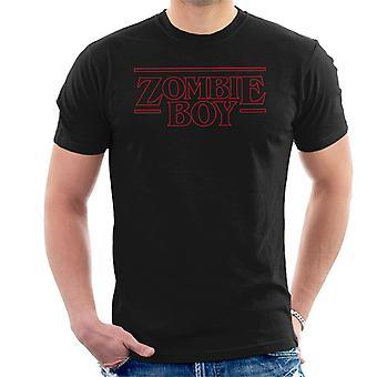 Stranger Things Font Zombie Boy Men's T-Shirt