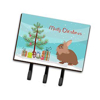 Carolines Treasures  BB9327TH68 Lionhead Rabbit Christmas Leash or Key Holder