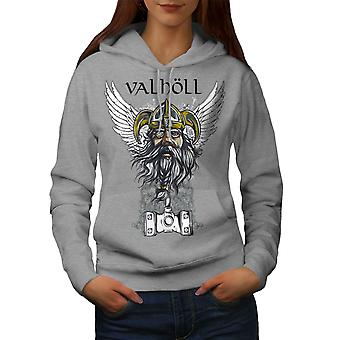 Valholl North War Women GreyHoodie | Wellcoda