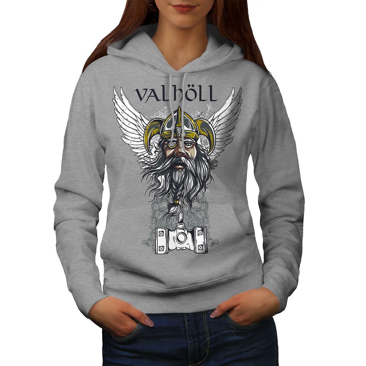 Valholl North War Women GreyHoodie | Wellcoda
