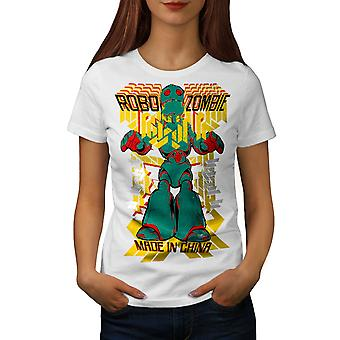 Robot Fashion Cool Women WhiteT-shirt | Wellcoda