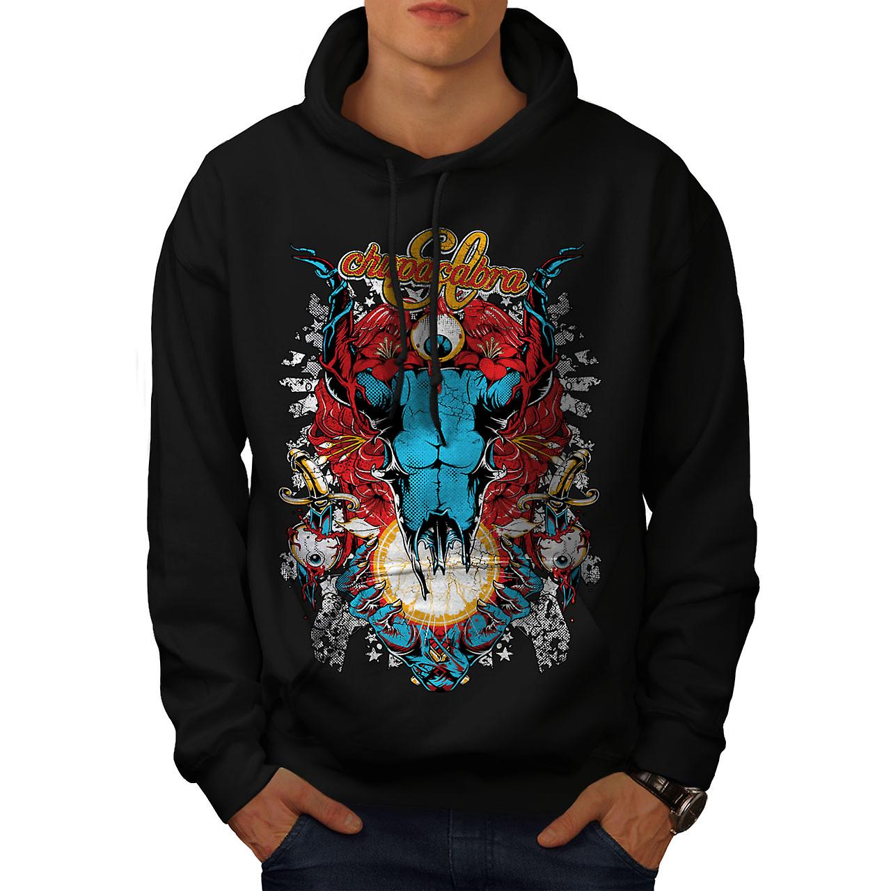 Eye Monster Horror Men Black Hoodie | Wellcoda