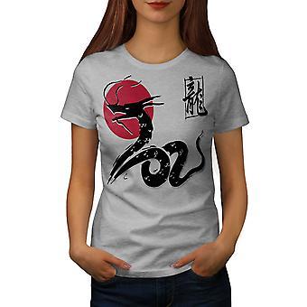 Japan Dragon kvinnor GreyT-skjorta | Wellcoda